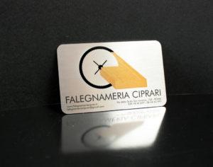 Печать металлических визиток