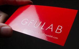 Печать ламинированных визиток
