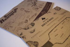 Изготовление меню на крафт бумаге