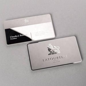 Металлические визитки на заказ