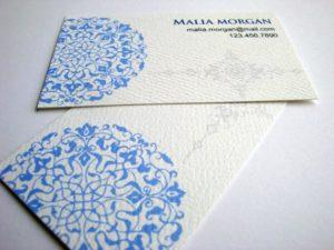 Печать визиток на бумаге «лен»
