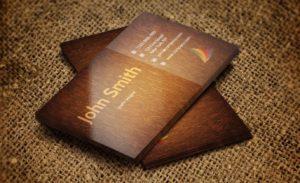 Ламинированные визитки на заказ