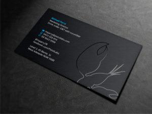 Заказать визитки с шелкографией