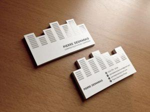 Дизайн необычных визиток на заказ