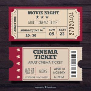 Билеты для кинотеатров на заказ