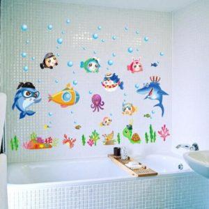 Изготовление наклеек в ванную комнату