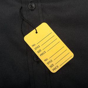 Печать ценников для одежды