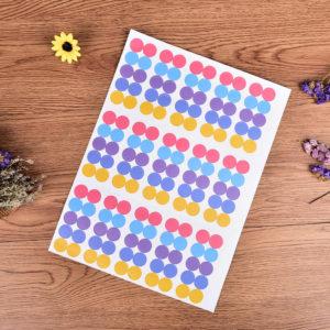 Печать простых наклеек на бумаге