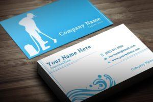 Заказать дизайн визиток клининговых компаний