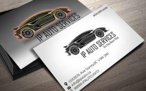 Дизайн визиток автосервиса на заказ