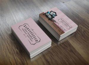 Дизайн визиток магазина