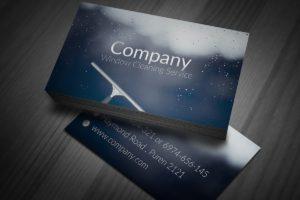 Дизайн визиток клининговых компаний в Москве